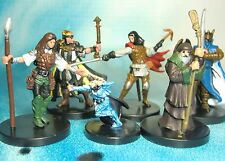 Dungeons & Dragons Miniatures Lot  Unique Player Character Party !!  s116