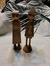 Vintage wooden Figures Made In Israel