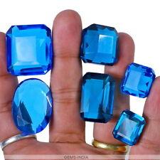 300 Carat/6 Pcs Hydro London Blue Topaz Mix Faceted Cut Loose Gems Lot-17mm-30mm