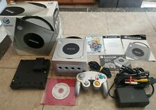 Nintendo GameCube Limited Edition Platinum Console Boxed w/ Gameboy Adapter CIB