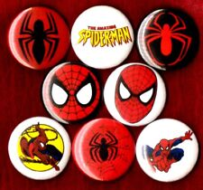 SPIDERMAN 8 NEW 1 inch pins buttons badges amazing comic book