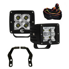 KC Toyota Tacoma 16-18 Pillar/Ditch Mount C-Series C3 LED Flood Beam Light Kit