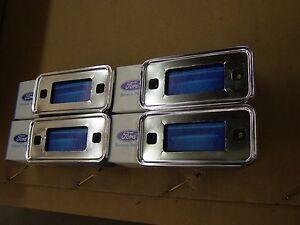 NOS OEM Ford 1970 1977 Bronco Marker Light Bezels 1971 1972 1973 1974 1975 1976