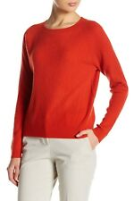 NEW Vince Rib Knit Raglan Cashmere Sweater in Orange - Size XS