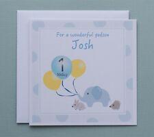 1st Birthday Card Boy 1 Today Personalised for Boys Grandson Son Godson Nephew