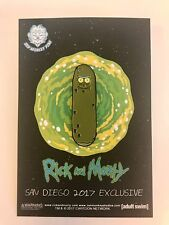 SDCC 2017 Exclusive - Rick And Morty Pickle Pin San Diego Comic Con Limited Ed!