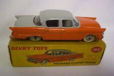 Dinky No.180 Packard Clipper Sedan Orange/Grey Good Plus Boxed