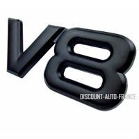 V8 Emblem caractères inscription noir voiture autocollant LOGO 3D V8