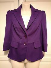 Laura Ashley Purple Peplum Style Jacket 3/4 length sleeves Size 8/Small