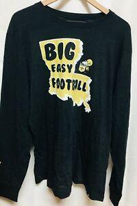 New Orleans Saints Long Sleeve Black Shirt Big Easy Football '47 Sizes S-XXL