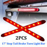 "17"" 9-LED Red Sealed Submersible Trailer Truck RV Stop Tail Brake Turn Light Bar"