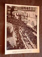 Gerusalemme nel 1928 Processione solenne per l'ingresso Basilica Santo Sepolcro