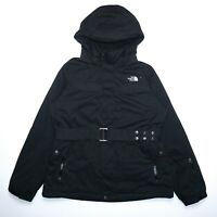 The North Face Women's Black Heavyweight Hooded Belted Down Hyvent Parka Size XL