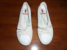 ECCO das weiße Leder mit Beige Wildleder Sommer Zone Petit Krawatte für Frauen SZ 7.5