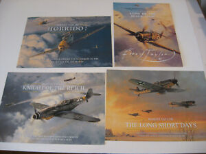 Lot of 4 Luftwaffe ME-109 Ftr Aircraft Robert Taylor Art Advertising Brochures