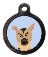 German Shepherd Breed Cute Fun Pet Tags - Dog Cat ID Collar Tag - ENGRAVED FREE