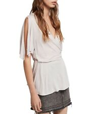 BNWT ALL SAINTS WRAP AMIRA TOP STONE WHITE SIZE S £48 SOLD OUT