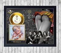 VAN HALEN 1984 CUADRO CON GOLD O PLATINUM CD EDICION LIMITADA. FRAMED