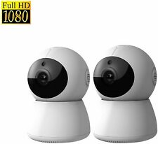 DophiGo 1080P HD Dome 360° Wireless WiFi Baby Monitor Safety Home Security SET 2