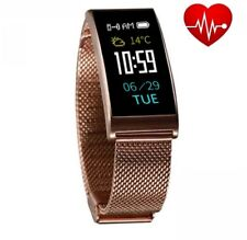 Smartband X3HR Rosé Pulsuhr Blutdruck Farbdisplay Smartwatch Fitness Sportuhr