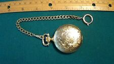 Le Gran Gold Pocket Watch and Chain - 17 Jewels Incabloc