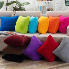 Fluffy Plush Pillow Cases Luxury Sofa Car Waist Throw Cushion Covers Home Decor