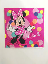 20x Disney Minnie Mouse Printed Napkins Gilrs' Party Supply Serviette Tablewale