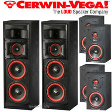 "Cerwin Vega XLS-28 Dual 8"" 3 Way Subwoofer + SL-5M Bookshelf Speaker Bundle"