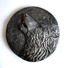 Viking Fenrir Norse Odin Wolf Howling Iron Sculpture Wall Mount Art Decor Gift