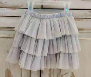 Gymboree Toddler Girls Silver Glitter Tutu Skirt Size 4T