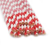 25x  RED STRIPED PAPER DRINKING STRAWS FOR PARTY TABLE DECORATIONS STRIPE 400101