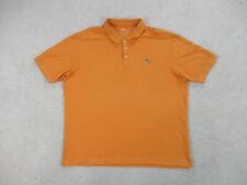 Tommy Bahama Polo Shirt Adult Extra Large Orange Marlin Pima Rugby Mens B36*