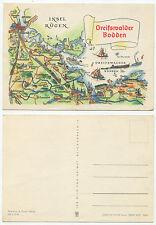 23116 - Greifswalder Bodden - Landkarte - alte Ansichtskarte