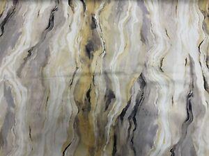 Designer Marble Velvet Grey/Mustard 1.5m Piece