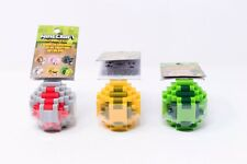Minecraft Spawn Egg With Mini Figures Lot of 3 - Chicken, Blaze, Creeper Jelly