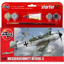 Airfix Messerschmitt Bf109E-3 Plane Model Starter Set - Scale 1:72 - A55106