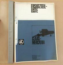 CLAAS Mercator  Mähdrescher Ersatzteilliste Original 1968
