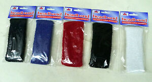 Cotton Headband Elasticated Adults White Red Black Navy Blue Sports Head Sweat
