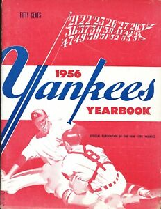 1956 New York Yankees Yearbook Red Cover Variation EX