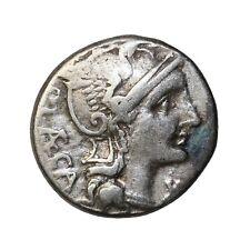 Ancient Roman Republic Coin Porcius Laeca 110 Bc Ar Silver Denarius Rome Syd.571