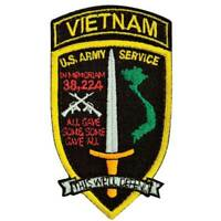 Army Vietnam Service Patch Hook and Loop