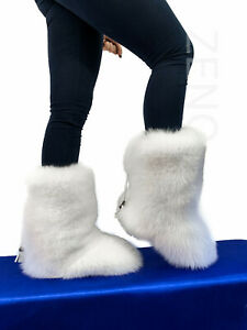Double-Sided Arctic Fox Fur Boots For Outdoor Eskimo Fur Boots Arctic Boots