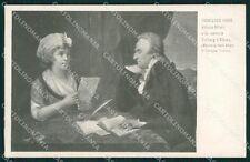 Firenze Città Mostra Ritratto Italiano 1911 Fabre cartolina XB4995