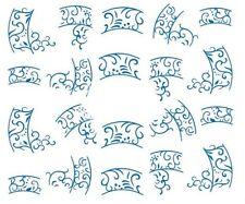 Nail Art Decals Transfers Stickers Blue Tattoo Design (A-272)