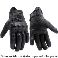 FXC Vented Leather Motorbike Motorcycle Gloves Knuckle Shell Protection Summer