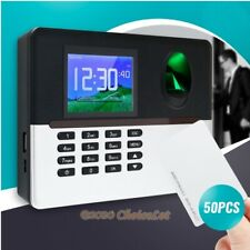 Fingerprint And 50pcs RFID Cards Attendance Time Clock+TCP/IP+USB+Remote Access