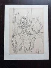 Alberto Giacometti Annette Portrait Mourlot Original Lithograph 1964 Modern Art