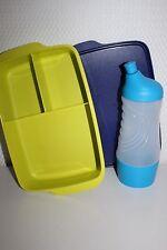 TUPPERWARE Sportfreund Flasche 415 ml blau Clevere Pause Dose Früstukbox 1,0 L