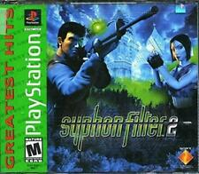 Syphon Filter 2 Sony PlayStation 1, 2000 Double CD Video Game Free Ship U.S.A.