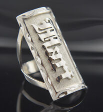 Custom Ring with your NAME,number,symbol on Sterling Silver .925 100% Hand Made